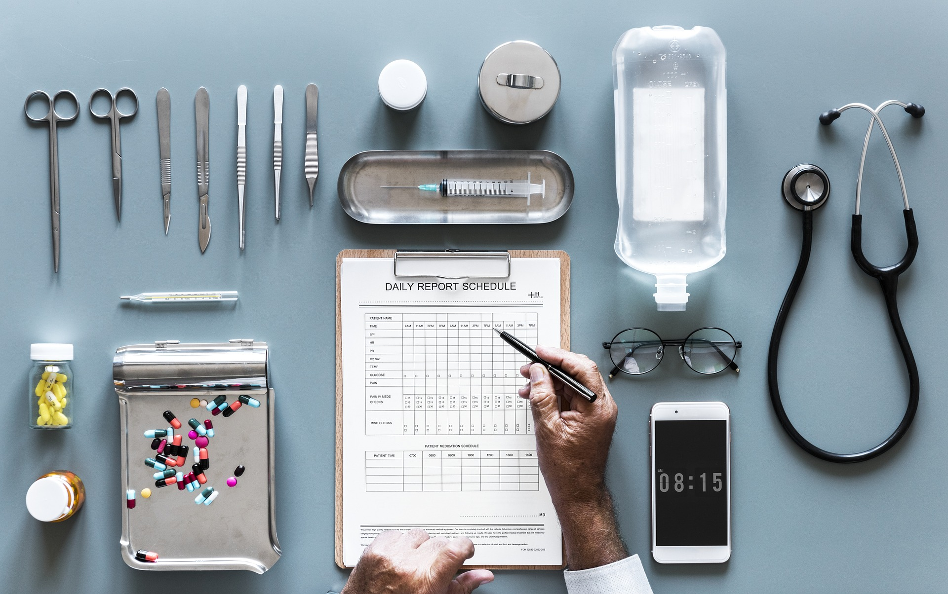 Saúde dos instrumentos cirurgicos